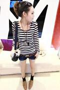 Womens Striped Long Sleeved Top