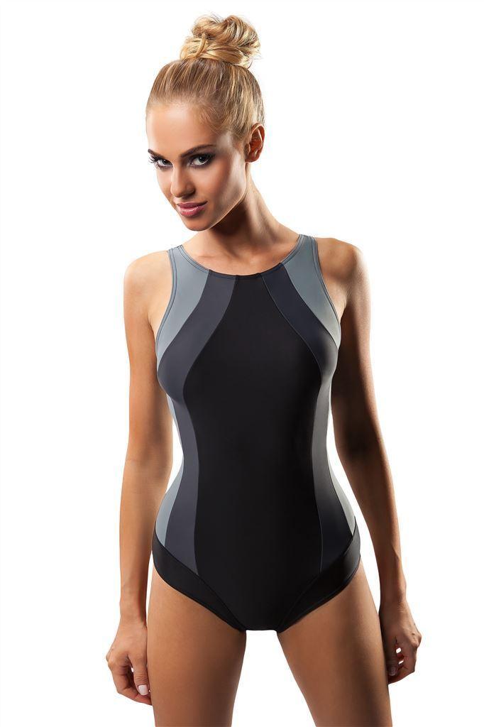 65cc69f93e442 Top girls women sport swimming costume one piece swimsuit swimwear uk size  8-18