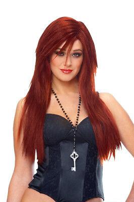 Deluxe Hayley Williams Paramore Singer Sleek Red Wig ()