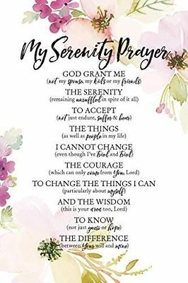 New Dexsa My Serenity Prayer 6  X 9  Wood Plaque With Easel Dx5045