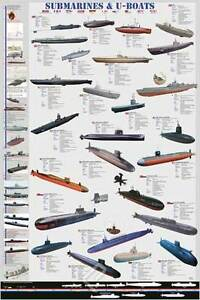 POSTER - Submarines & U-Boats - NEW