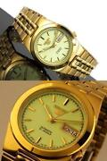 Seiko 5 Gold Watch