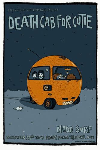 Tara McPherson Death Cab For Cutie Nada Surf 2003 Poster - RARE AoMR 318.7