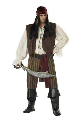 Rogue Pirate Adult Mens Big and Tall Halloween Costume 48-52