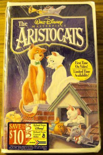 The Vcr From Heck Fifty Cartoons Week Tuesday 50: Disney Aristocats VHS