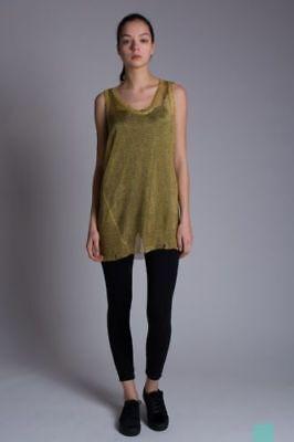 NWT  $198  DIESEL WOMENS  M-GOLDEN DRESS SHIRT GOLD MEDIUM