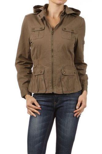 Green Cargo Jacket Womens