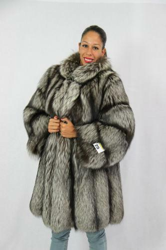 Silver Fox Fur Coat | eBay