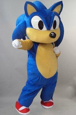 Halloween Adult Sonic the Hedgehog Video Game Mascot Costume Suits Dress Outfits