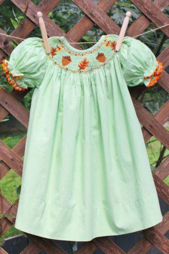 Fall Smocked Dress 2t Ebay
