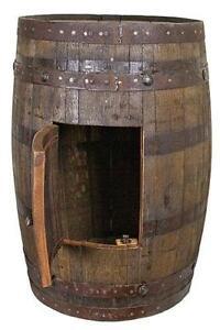 whiskey barrel bar authentic jim beam whiskey barrel table