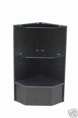 Glass Wood Black Showcase Display Case Store Fixture Knocked Down Pcm-cbk