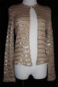 Gold Sequin Cardigan