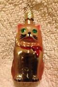 Blown Glass Cat Ornaments