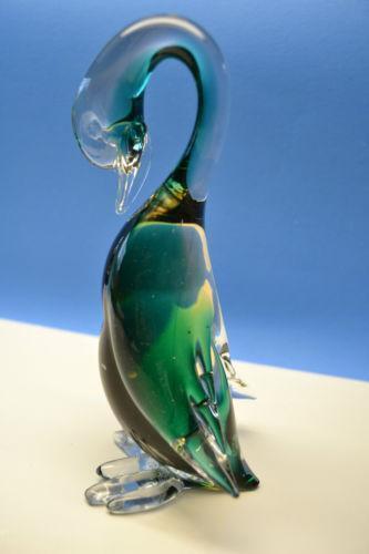 Vintage Blown Glass Swan Ebay
