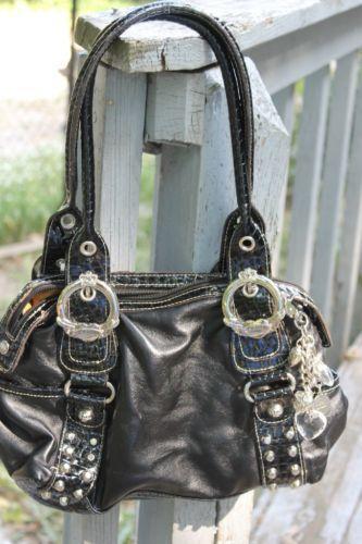 kathy van zeeland silver handbags ebay