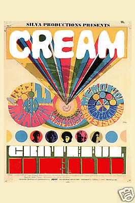 Power Trio: Eric Clapton & Cream & Grateful Dead at Santa Barbara Poster 1968