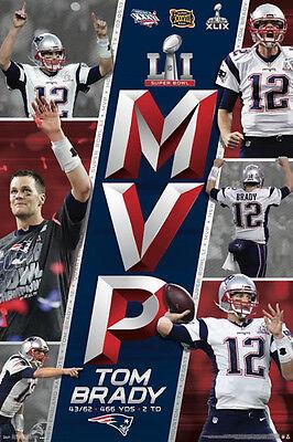 Tom Brady Super Bowl Li  2017  Mvp New England Patriots Commemorative Poster