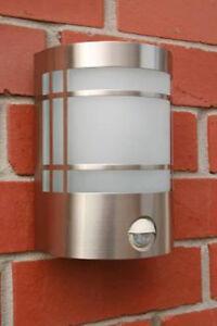 Edelstahl Außenleuchte Wandlampe Sensorleuchte Lampe mit Bewegungsmelder 008409