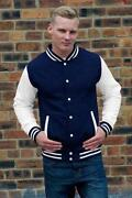 Blue White Letterman Jacket