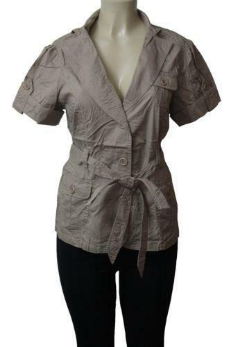 Safari Shirt Cognac Heels: Khaki Safari Shirt