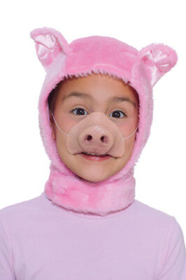 Pink Pig Child Mask and Hood for Halloween Costume](Pig Masks For Kids)