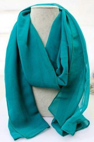 green silk scarf scarves wraps ebay