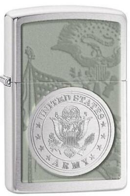 Zippo 28516, United States Army, Brushed Chrome Lighter, Date Code 2013