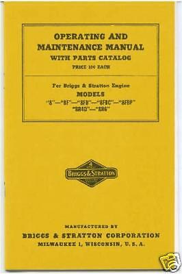 Briggs Stratton 8-8f-8fb-8fbc-8fbp-8r4d-8r6 Book Ye