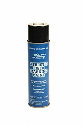 Athletic Specialties 20 oz. Field Marking Spray Striping Paint Can - Black Athletic Field Marking Spray Paint