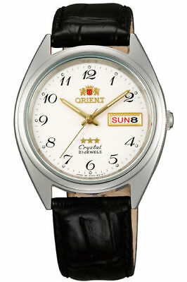 Orient Watch Men's Women's Unisex 1 15/32in Automatic Leather and steel Day &