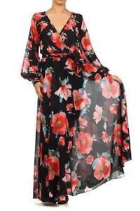 56ab174c2044a Vintage Chiffon Maxi Dress