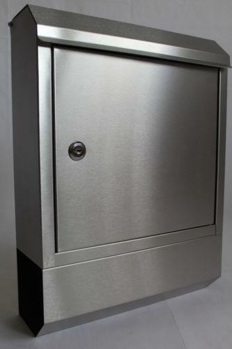 briefkasten edelstahl mit zeitungsfach jetzt g nstig bei ebay kaufen ebay. Black Bedroom Furniture Sets. Home Design Ideas