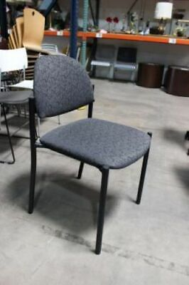 Gray Fabric Black Frame Stacking Chair