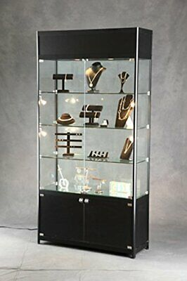 Lighted Tower Display Case Wthree Adjustable Shelves 39 12w X 13 34dx 78h