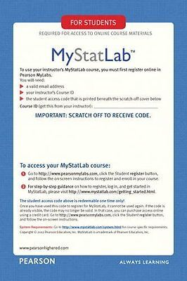 Mystatlab Access Code  Instant Delivery Please Read Before Buying
