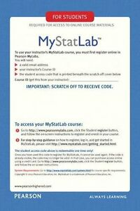MyStatLab Access Code- Instant Delivery-Please Read before buying!!.