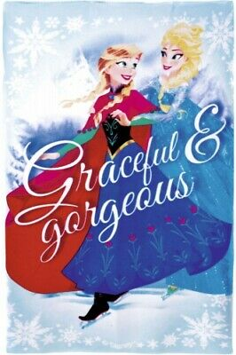 Girls Disney Frozen Graceful & Gorgeous Character Fleece Blanket Throw Xmas Gift