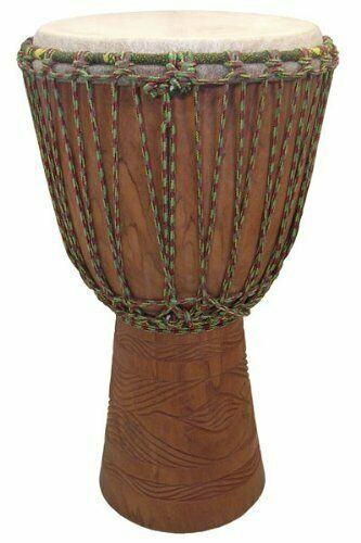 "Hand-carved Professional Djembe Drum From Mali - 13""x24"" Full Size"