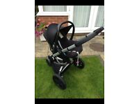 Quinny Buzz Travel System Stroller with Maxi Cosi Carseat, Free Carry Cot extra Seat