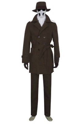 Watchman Watchmen Rorschach Cosplay Costume Full set Hallowee Custom Made Outfit - Rorschach Outfit