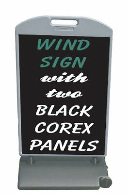 53 X 29 Wind Frame Sandwich Board Sidewalk Sign 2ea. 24 X 36 Corex Panels.