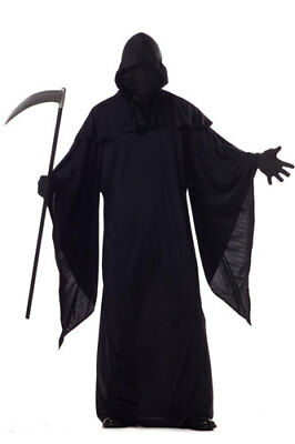 Horror Robe Grim Reaper Mens Halloween Costume