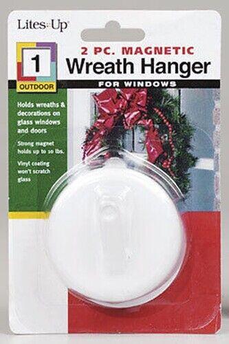 Lites Up MAGNETIC Wreath & Decoration Hanger   Holds on glass windows/doors