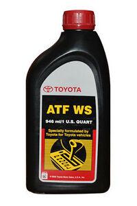 4 Quarts ATF WS Transmission Fluid NEW genuine Lexus Toyota Scion OEM
