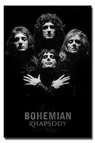 Queen Poster Black and White Wall Art Print - Bohemian Rhaps