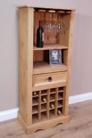 Solid Pine Wood Wine Bar in Great Condition
