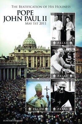 Palau- Beatification of Pope John Paul II sheet of 4 MNH