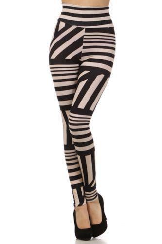 Plus Size Striped Leggings Ebay