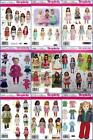 18 Doll Clothes Patterns Lot
